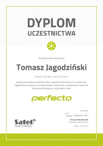 Dyplom_szkolenia_Perfecta_Tomasz Jagodziński